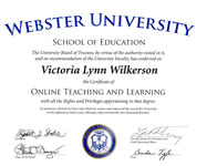 Online Teaching and Learning Certificate